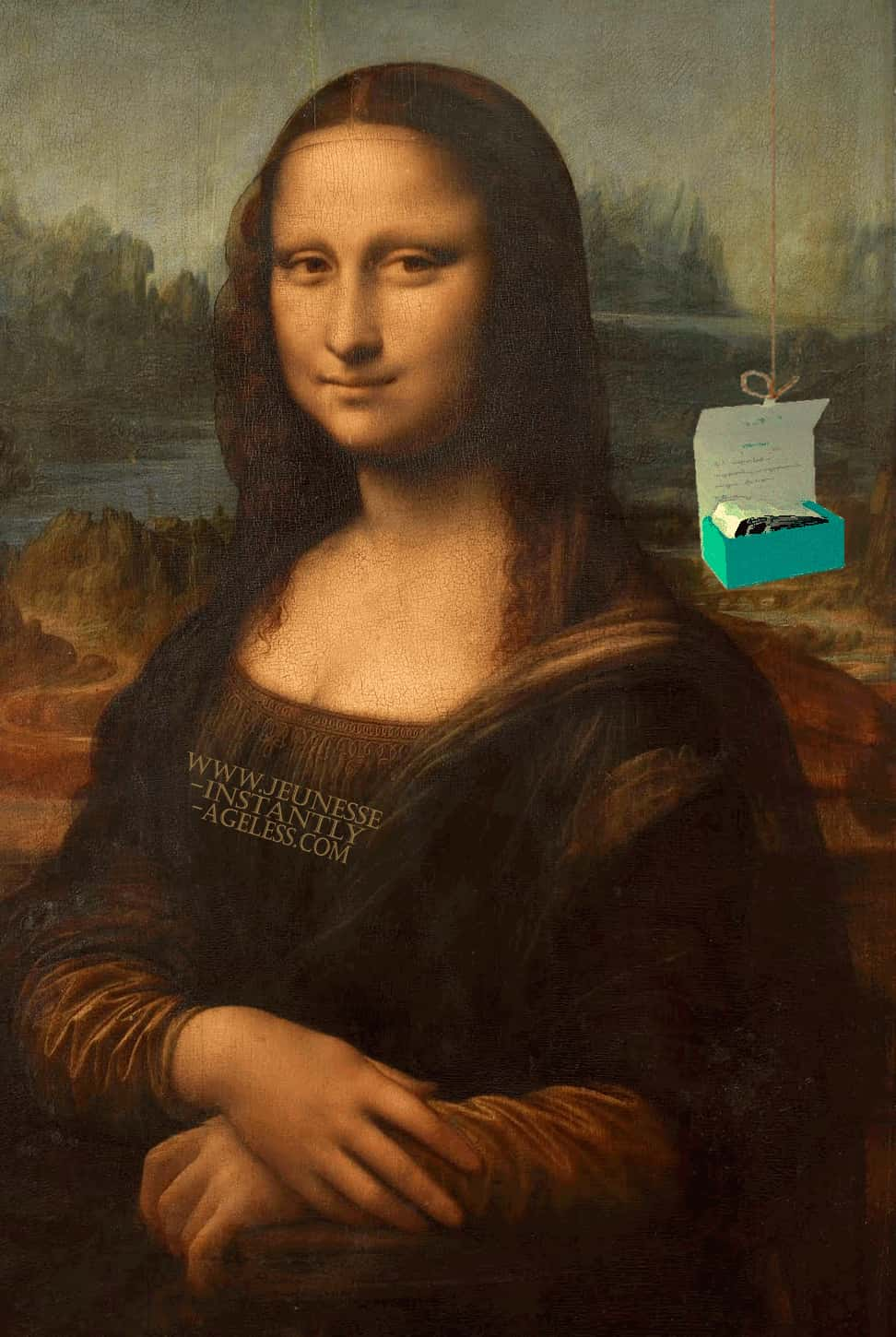 Инстантли Эйджлесс и Мона Лиза. Mona Lisa with Instantly Ageless.